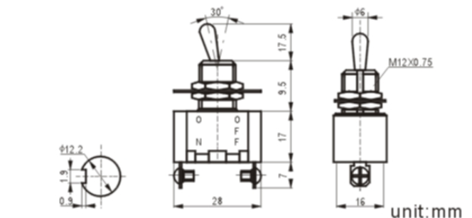 KN3(A)-101A-1 toggle switch