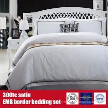 100%хлопок 300TC Сатин наб границы отель постельное белье постельные принадлежности