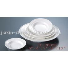 Vaisselle en porcelaine blanche Restaurantt JX-PB025