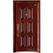 Red Walnut Six Panel Security Door
