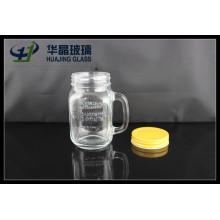 16oz 480ml Glass Mason Jar with Handle and Screw Lid