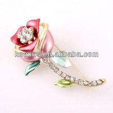 Rose em forma de strass pin broche