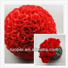 2015 Yiwu gros mariage décoratif en soie artificielle boule fleurs