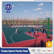 Tribunais de esportes ao ar livre de material de grau alimentício PP ou playground intertravamento de telhas