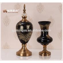 Home Dekoration Vase Hause Boden Blume Glas Vase dunklen Glas Blume Vase zum Verkauf