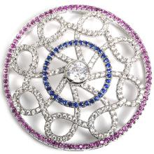 Fábrica Venta al por mayor CZ joyas conector accesorio para collar de perlas