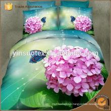 romantic love pink rose disperse printed bedding set