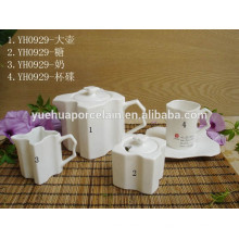 2015 Neues Design Günstige Keramik Teekanne Set für Kaffeehaus