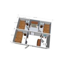 Módulo de contenedores Habitación simple y doble (CH 15017)