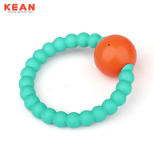 BPA Free Silicone Teether Baby Rattle
