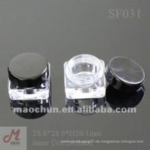 SF031 Quadratische Plastik leere kosmetische Gläser
