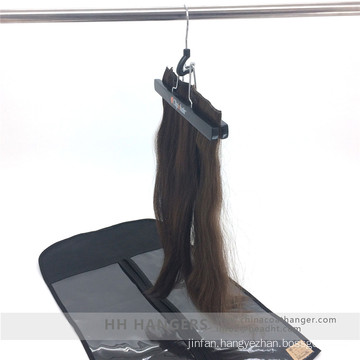 Extension Hair and Clips in Hair Hanging Hanger Wooden Clamps