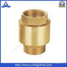 Латунный обратный клапан с пружинным обратным клапаном (YD-3002)