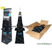 Soporte de exhibición trapezoidal de doble cara, soporte de sobremesa de cartón, soporte de exhibición de papel (B & C-A073)