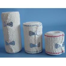Vendaje de crepé de algodón 100% de alta calidad / vendas elásticas (XT-FL062)