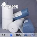 Suministro médico de tela de algodón sin blanquear absorbente, grandes rollos de gasa de lana