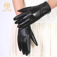 El mejor tipo de la manera de la venta guantes de cuero de la corteza de las ovejas de las señoras en bulto