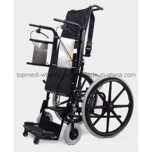 Silla de ruedas de pie manual de Wheelchir de rehabilitación médica para pacientes con parálisis