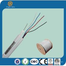 Hot Sale RG6 Quad with UTP Cat5e Composite Cable