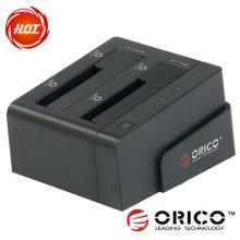 """Estação de ancoragem SATA HDD de 2,5 """"e 3,5"""" com interface de alta velocidade USB3.0 e função de clonagem"""