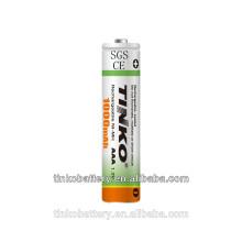 avec l'industrie célèbre CE/GV 1.2V ni-mh batterie rechargeable à bas prix