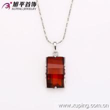 Joyería de moda cuadrado de la boda rodio collar de piedras preciosas colgante -31854