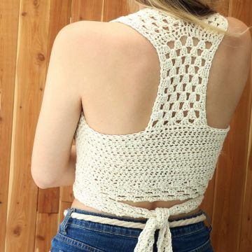 Venta caliente crochet top cover up