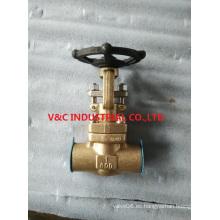 ANSI Ni-Al-bronce válvula de compuerta para agua de mar