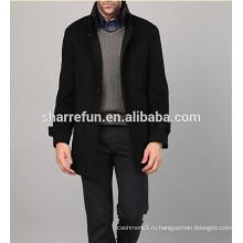 Бизнес& досуг стиль однобортный мужчины шерстяные пальто