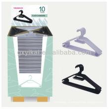 Высококачественная рекламная пластиковая вешалка с картонной коробкой