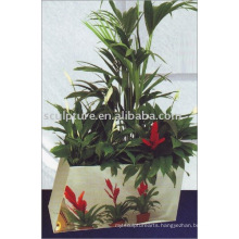 stainless steel abstract deco flowerpot