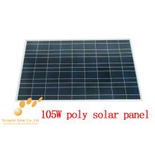 Painel solar cristalino poli de 105W 18V