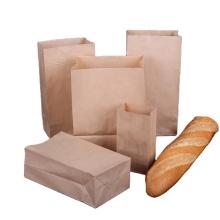Low cost biodegradable recycled brown kraft paper custom foods packaging paper bag