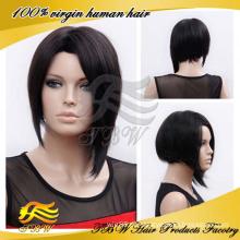 Bob Estilo peruca de cabelo curto brasileiro cheia do laço Made in China