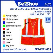 Veste reflexiva roupas de segurança com várias cores