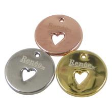 Encantos de la etiqueta colgante de metal redondo para joyería