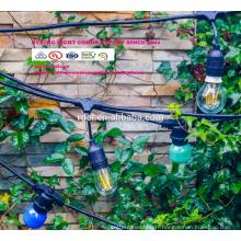 Lumières de décoration de patio éclairage de ficelle accrochant de 48 pieds avec 15 douilles abaissées, prolongation SLT-170 de 10 pieds