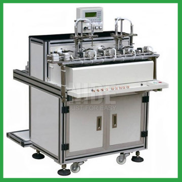 Two working station armature slot coil winding machine
