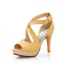 Gelbe Frauen Sandalen High Heel