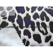 White Leopard Pattern Interlock Printed Fabric