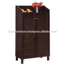 Cabinet de chaussure, Cabinet de chaussure en bois