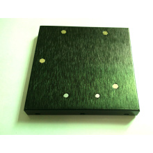 Stamped Aluminum Plate with Corners Rivet Edgefold for Electronic Accessories