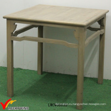 Природный Браун Chic Коттедж Античный обеденный стол Площадь дерева