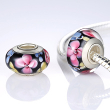 Murano Glass Beads with 925 Sterling Silver Core Bracelet