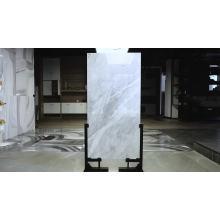 Super white carrara matt finish ceramic bathroom floor tiles 60x60