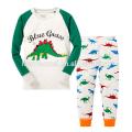 Nouveau Design Bleu clair à manches longues imprimé animal Cartoon Boy enfants pyjamas