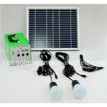 Power Solution 10W Sistema de energía solar para área de iluminación