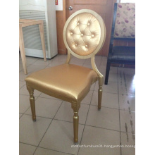 Gold aluminium louis chair for sale and rental XY0186