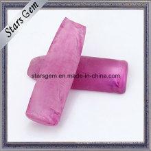 Piedra preciosa rosada de rubí sintética áspera