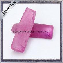 Розовый Рубин Синтетический Драгоценный Камень Грубой